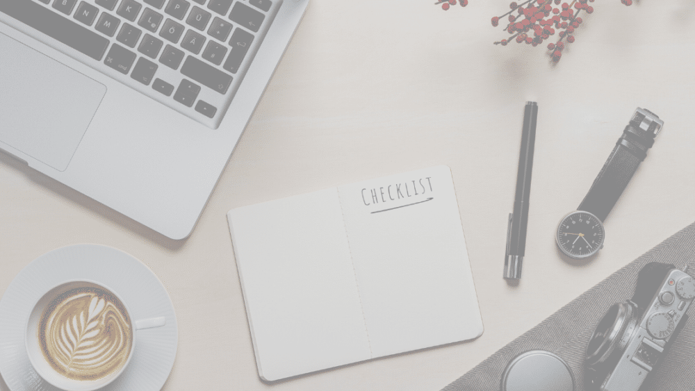 email campaign checklist